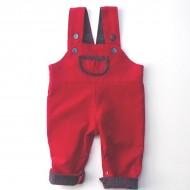 Red Cord Reversible Dungarees