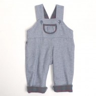 Blue Reversible Dungarees