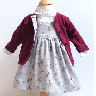 Woodland  Reversible Pinafore - New for A/W