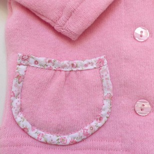 Pink Cardigan with Pockets