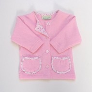 Candy Pink Cardigan with pockets