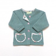 Sage Green Cardigan with pockets