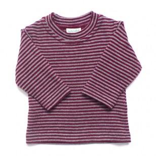 Burgundy Stripe Top