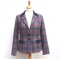 Heather Check - Ladies Fitted Short Jacket