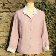 Pink Cream  - Ladies Reversible Summer Jacket-