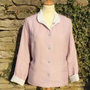 Pink Cream  - Ladies Reversible Summer Jacket-