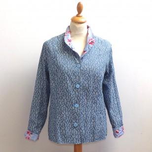 Blue Flower - Ladies Reversible Summer Jacket