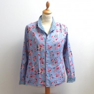 Blue Flower - Ladies Reversible Summer Jacket