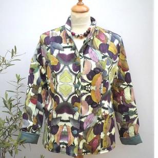 Damson Batik Jacket