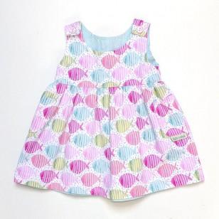 Fish Summer Reversible Pinafore Dress