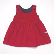 Red Cord Reversible Pinafore