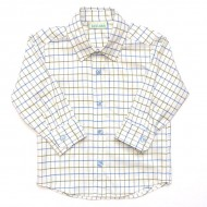 Classic Olive Blue Check Shirt