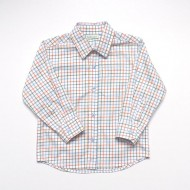 Classic Green Orange Check Shirt
