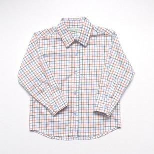 Classic Green Orange Check Shirt